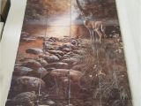 "Tile Murals for Shower Beside Still Waters Tile Mural On 6"" Tiles at £216"