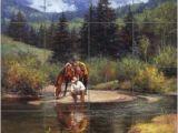 Tile Murals for Shower Ceramic Tile Mural Backsplash Shower sorenson Western Cowboy Art Rw