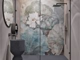 Tile Murals for Shower Modern Bathroom by Quadro Room Современный су 3 м2