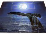 Tile Murals for Shower Night Dive Tile Mural Dolphins & Mermaids Pinterest