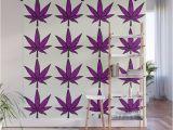Tile Wall Art Mural Filigree Floral Cannabis Leaf 4×4 Tile Purple Wall Mural by Meantjewlip