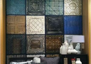 Tile Wall Murals for Sale Faux Headboard Feature Wall Wall Art Made From Reclaimed Tin Ceiling