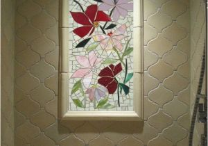Tile Wall Murals for Sale Sale 2ft Mosaic Mural Floral Stained Glass by Paradisemosaics