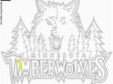 Timberwolves Coloring Pages Emblem Of Minnesota Timberwolves Coloring Page Printable Game