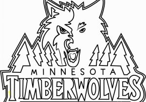 Timberwolves Coloring Pages Minnesota Timberwolves Coloring Page Free Nba Coloring Pages