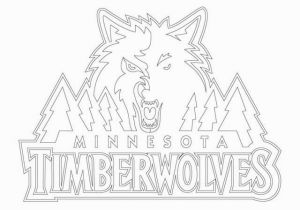 Timberwolves Coloring Pages Minnesota Timberwolves Logo Nba Sport Coloring Pages Printable