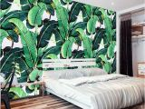 Times Square Wall Mural Custom Wall Mural Wallpaper European Style Retro Hand Painted Rain forest Plant Banana Leaf Pastoral Wall Painting Wallpaper 3d Free Wallpaper Hd