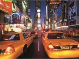Times Square Wall Mural New York Times Square Taxi Wallpaper Mural