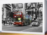 Times Square Wall Mural Red Bus Times Square Wall Mural