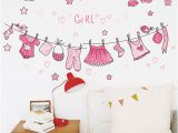 Toddler Girl Wall Murals Us $2 6 Off Bathroom Clothes Wall Stickers Nursery Girls Bedroom Wall Decals Home Decor Poster Mural Kids T In Wall Stickers From Home & Garden