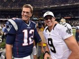 Tom Brady Wall Mural tom Brady and Drew Brees