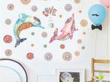 Tonal Circles Wall Mural Shop Chezmax Diy Dolphin Waterproof Wall Sticker Removable