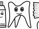 Tooth and toothbrush Coloring Pages Luxury toothbrush and toothpaste Coloring Page Unknown