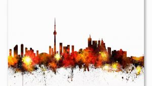 Toronto Skyline Wall Mural toronto Canada Skyline Wall Mural Products
