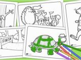 Tortoise and the Hare Coloring Page the tortoise and the Hare Colouring Sheets Story Books