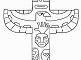 Totem Pole Faces Coloring Pages Free Printable totem Pole Coloring Pages for Kids