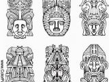 Totem Pole Faces Coloring Pages totem Pole Faces Coloring Pages Best 45 Best Coloring southwest