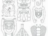 Totem Pole Faces Coloring Pages totem Pole Faces Coloring Pages Best Funny Faces Coloring Pages