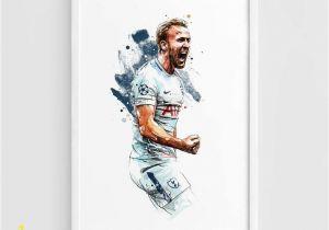 Tottenham Hotspur Wall Murals Harry Kane tottenham Hotspur Fc Spurs A3 Wall Art Print