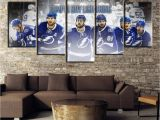 Touch Of Modern Wall Mural 5 Piece Canvas Painting Ice Hockey Team Poster Modern Decorative Paintings On Canvas Wall Art for Home Decorations Wall Decor