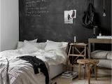 Touch Of Modern Wall Mural Bedroom with Black Chalkboard Wall