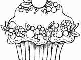 Towel Coloring Page Cupcake Fruit Kleurplaat Coloring Pinterest