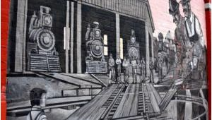 Train Station Wall Mural Railway Yard Track Switching Picture Of Midland Murals Midland