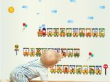 Train Wall Mural Stickers Letter Chart Cartoon Train Wall Sticker Cartoon Ad