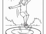 Trampoline Coloring Page Follow the Link Below to This Coloring Page