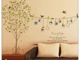 Transfer Paper for Wall Murals Colourful Tree&birds Wall Stickers Art Decals Mural