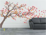 Transfer Paper for Wall Murals Tree with Leaves Blowing Off Vinyl Wall Decal 80 High by
