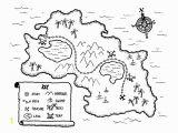 Treasure Map Coloring Pages Free Treasure Map Printable Great Way to Teach Map Skills or Kick