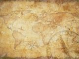 Treasure Map Wall Mural Aged Treasure Map Ruler Rope and Old Brass Pass