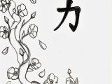 Tree Branch Coloring Page Cherry Blossom Line Drawing