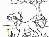 Tree Branch Coloring Page Simba Sleeping On Branch Of Tree Lion King Coloring Page