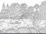 Tree Coloring Pages for Adults Coloring Book Adult Coloring Bookpagendscape Image for