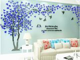 Tree Mural Wall Art 3d Tree Wall Stickers Acrylic Wall Sticker Home Decor Diy Decoration Maison Wall Decorations Living Room Mural Wallpapers