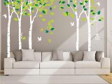 Tree Mural Wall Stickers Anber Giant Jungle Tree Wall Decal Removable Vinyl Sticker Mural Art Bedroom Nursery Baby Kids Rooms Wall Décor