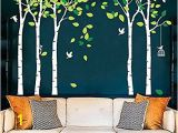 Tree Murals for Nursery Amazon Casefan 5 Trees Wall Decals forest Mural Paper for