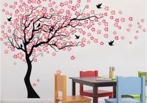 Tree Murals for Nursery Carved Sakura Tree Kids Room Wall Decals Children Nursery Art