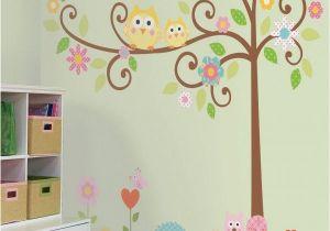 Tree Murals for Nursery Owl theme Nursery Colorful Kids Rooms Diy Pinterest