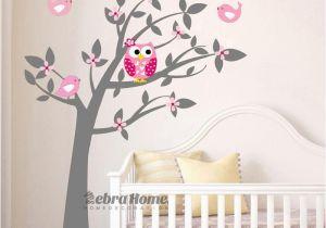 Tree Murals for Nursery Owl Vinyl Tree Wall Sticker Decals Mural Wallpaper Children Kids
