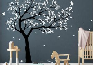 Tree Murals for Nursery Tree Wall Decal Tree Decals Huge Tree Decal Nursery with Birds