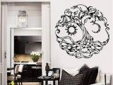 Tree Of Life Wall Mural Celtic Vinyl Wall Decal Tree Of Life Sun Moon Home Room