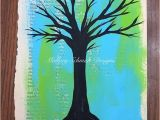 Tree Silhouette Wall Murals Tree Wall Art Tree Silhouette Print Wall Art Prints Blue and Green Art Book Lover T Altered Book Art Tree Print Acrylic On Paper