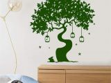 Tree Silhouette Wall Murals Vinyl Wall Decal Magic Tree Fairy Tale Rabbit Art Children S