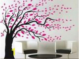 Tree Wall Mural for Nursery Blowing Tree Wall Art Design La Apartment Ideas
