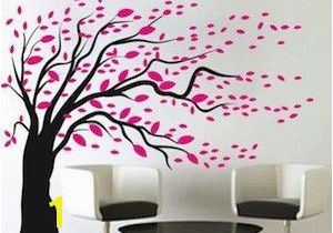 Tree Wall Mural for Nursery Blowing Tree Wall Art Design La Apartment Ideas