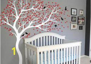 Tree Wall Mural for Nursery White Tree Wall Decal Huge Tree Wall Decal Wall Mural Stickers