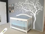 Tree Wall Mural for Nursery White Tree Wall Decal Huge Tree Wall Decal Wall Mural Stickers